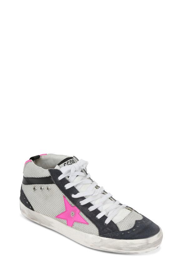 Golden Goose Women's Mid Star Ice & Pink Star Sneaker