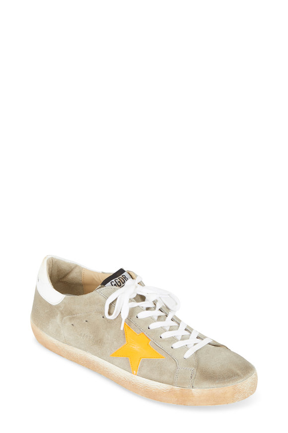 Golden Goose Men's Superstar Gray Suede Sneaker
