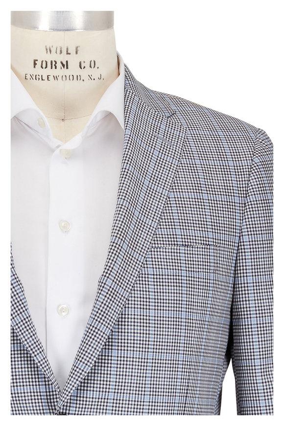 Hickey Freeman Beacon Black & White Windowpane Sportcoat