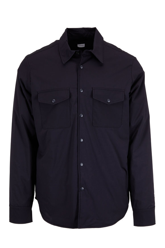 Aspesi Navy Blue Nylon Sport Shirt