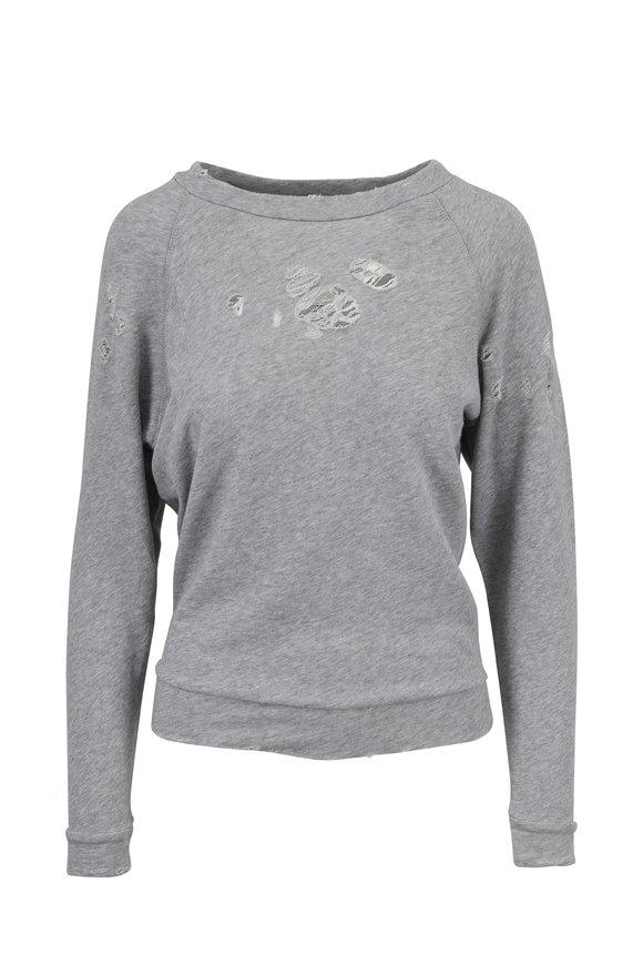 IRO Uprile Gray Distressed Sweatshirt