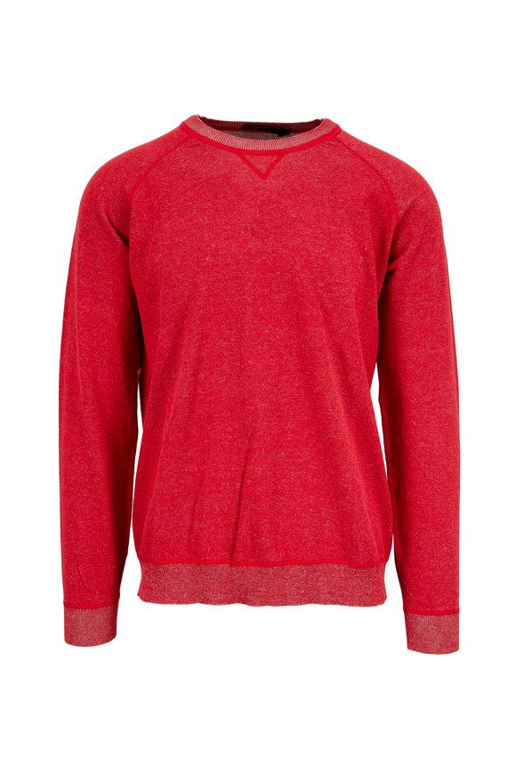 Raffi  Red Cotton Crewneck Sweater