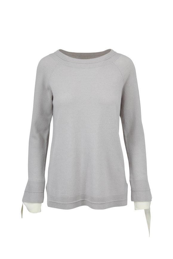 Raffi  Gray Cashmere Bateau Sweater