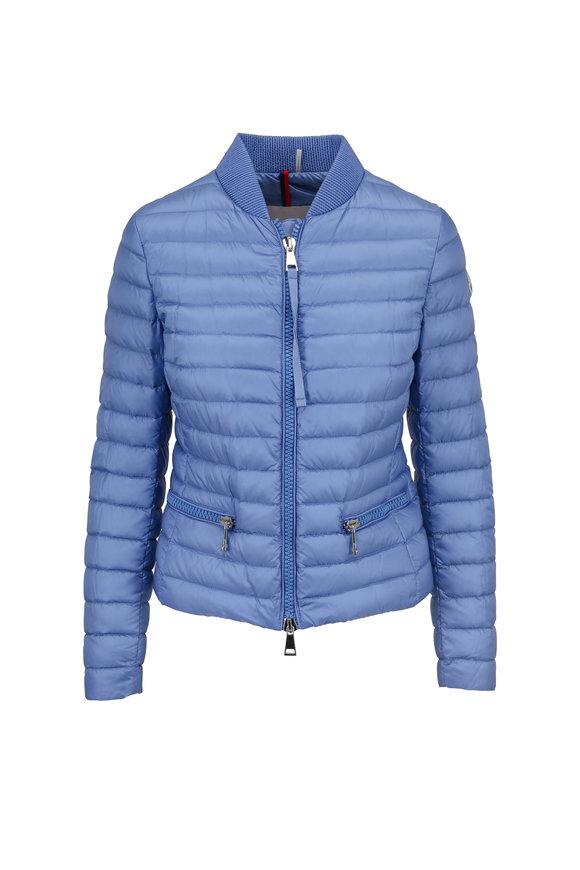 Moncler Light Blue Blen Bomber Puffer Jacket