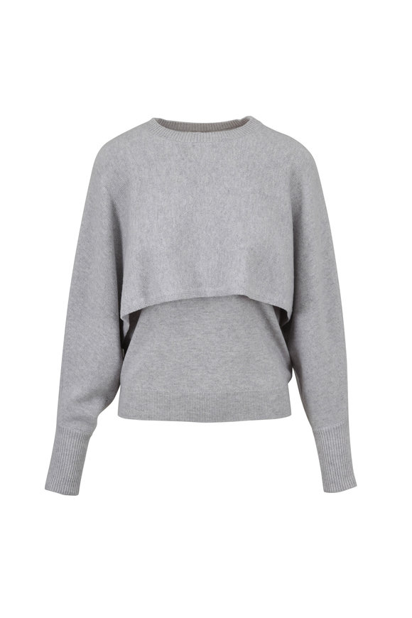 Chloé Cosy Gray Cashmere Convertible Sweater