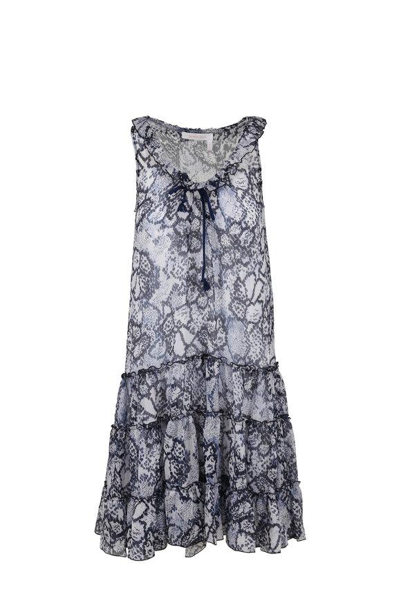 See by Chloé Blue Floral Print Sleeveless Dress