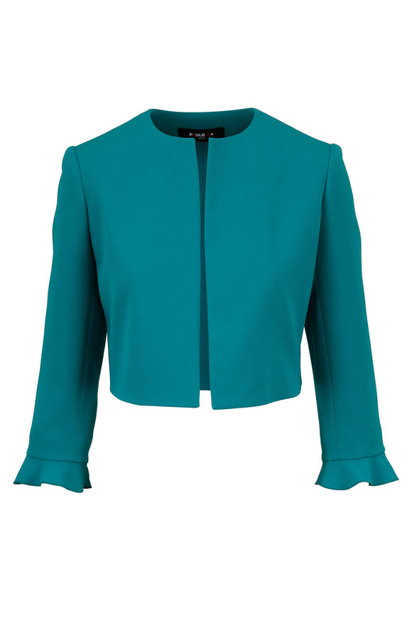 Paule Ka Emerald Open Front Cropped Jacket