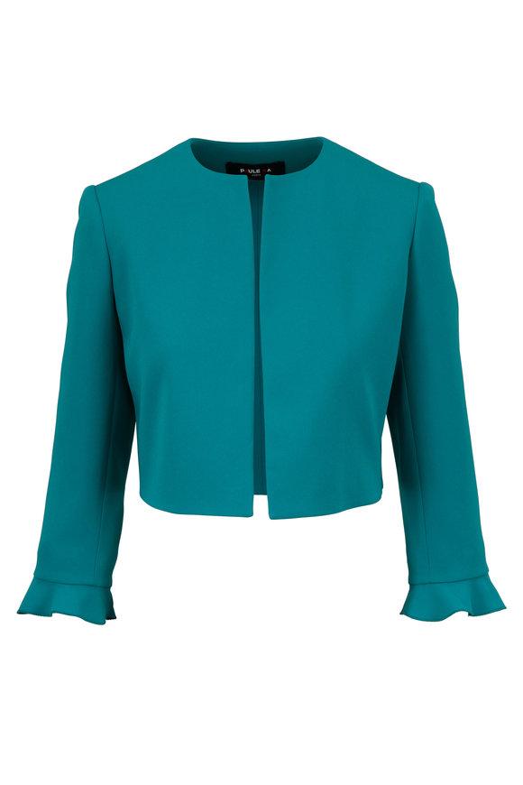 Paule Ka Emerald Open Front Cropped Jacket