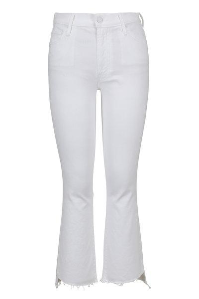Mother Denim - White Insider Crop Step Fray Jean