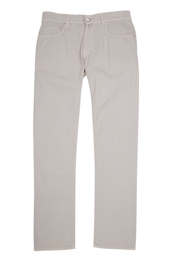 Jacob Cohen  Tan Twill Straight Leg Jean