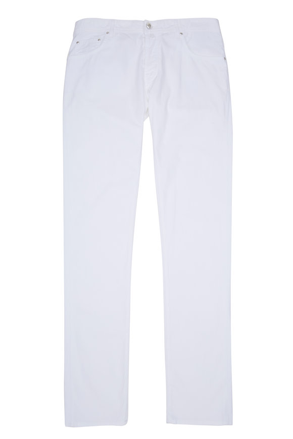 Jacob Cohen  White Twill Denim Jean