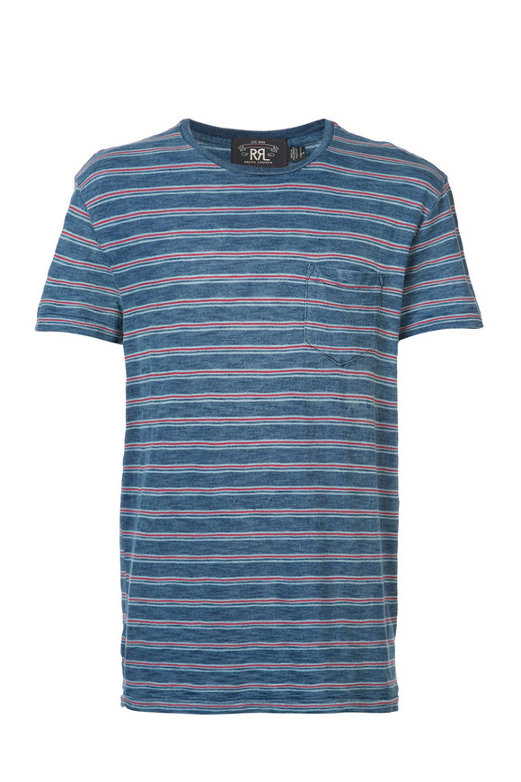 RRL Indigo & Multicolor Cotton Slub T-Shirt