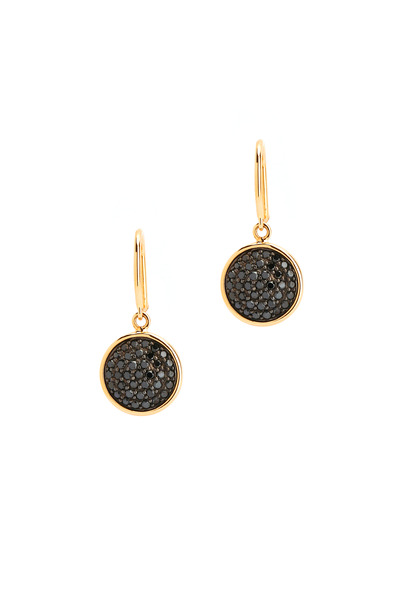 Syna - Yellow Gold Black Diamond Chakra Earrings
