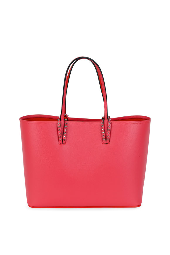 Christian Louboutin Cabata Pink Leather Studded Tote