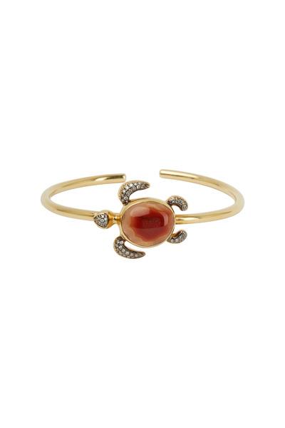 Kimberly McDonald - Yellow Gold Agate Diamond Sea Turtle Bracelet
