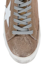 Golden Goose - Women's Superstar Gold Crackled Leather Sneaker