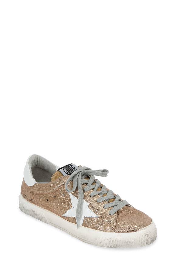 Golden Goose Women's Superstar Gold Crackled Leather Sneaker