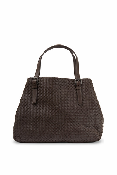 Bottega Veneta - Cabas Chocolate Intrecciato Leather Tote
