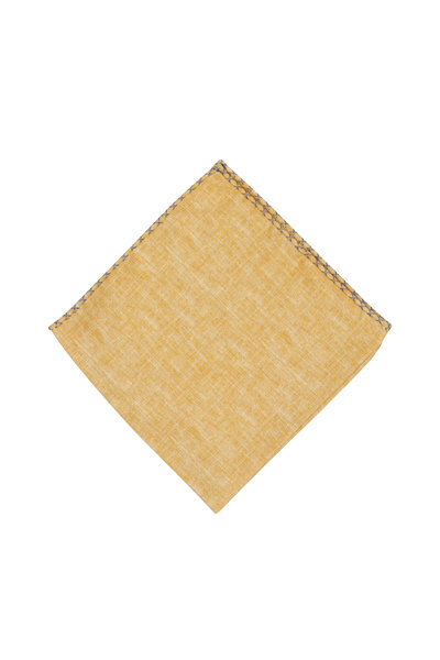 Brunello Cucinelli - Yellow Silk Blend Pocket Square