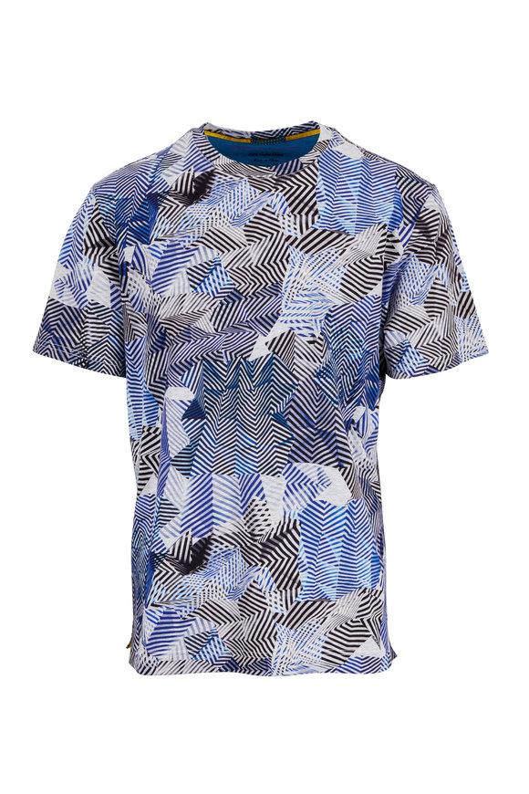 Robert Graham Blue Prado Print T-Shirt