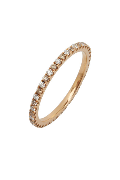 Kwiat - Pink Gold White & Yellow Diamond Band