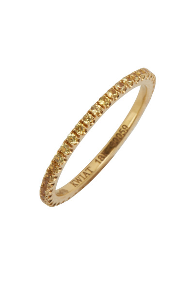 Kwiat - Yellow Gold Yellow Sapphire Band