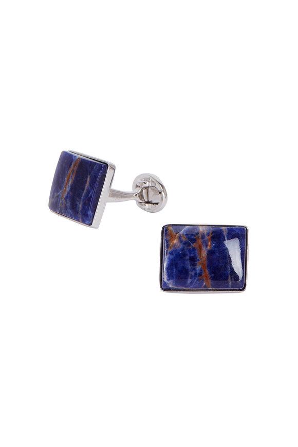 Jan Leslie Navy Blue Sodalite Cuff Links