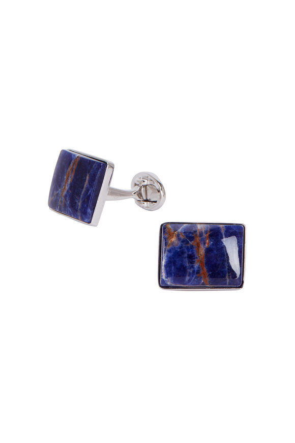 Jan Leslie Navy Blue Sodalite Cuff Links