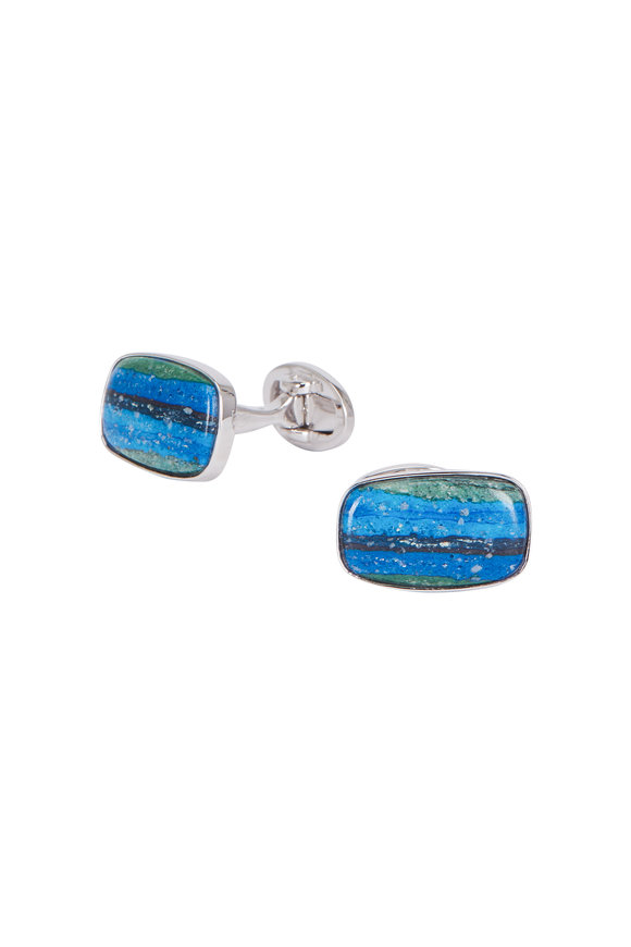Jan Leslie Rainbow Calsilica Cuff Links