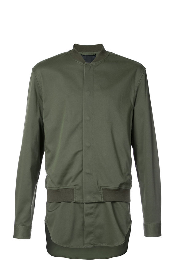 3.1 Phillip Lim Army Green Classic Bomber