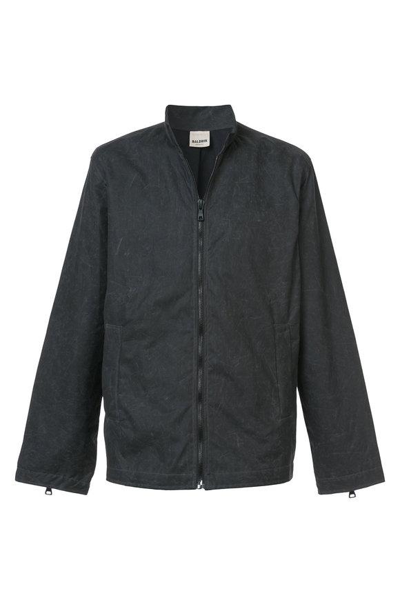 Baldwin Leo Stone Grey Waxed Cotton Jacket