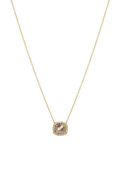 Kimberly McDonald - Gold Natural & White Diamond Pendant Necklace
