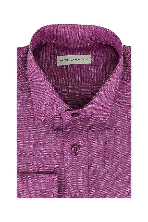 Etro Raspberry Linen Sport Shirt