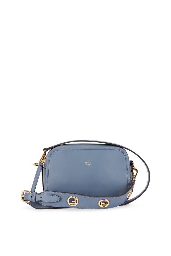 Fendi Storm Blue Leather Camera Crossbody Bag