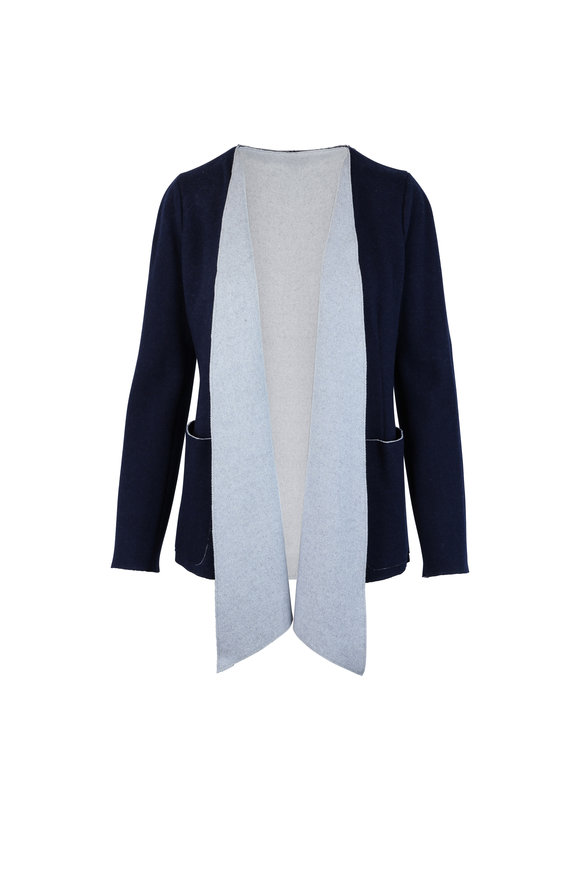 Agnona Midnight Cashmere Open Front Cardigan