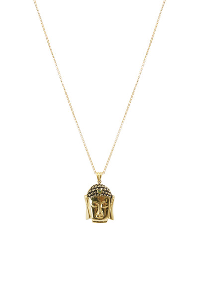 Kimberly McDonald - Yellow Gold Green Opal Small Buddha Pendant