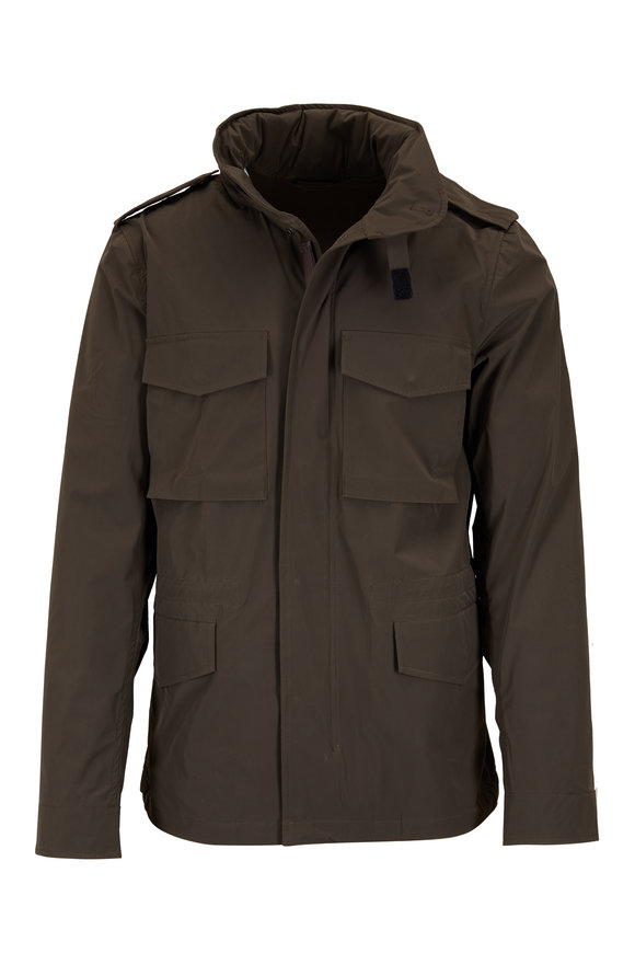 Aspesi Olive Green Bi-Stretch Field Jacket