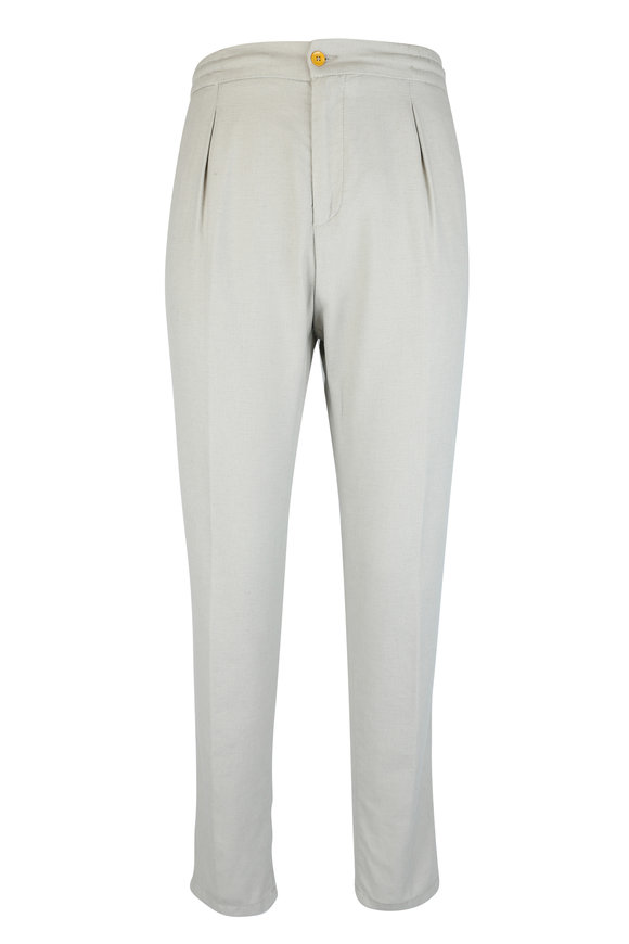 Marco Pescarolo Stone Cotton & Linen Pant