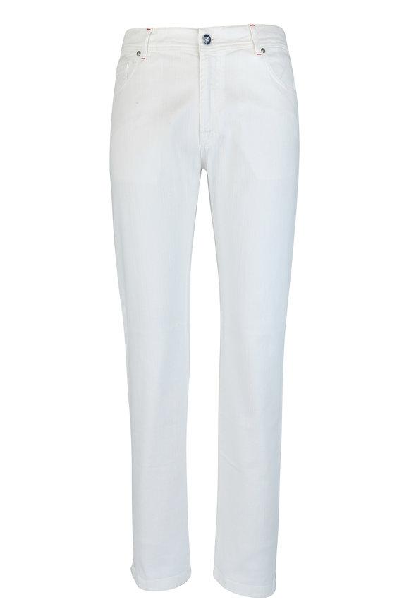 Marco Pescarolo White Stretch Cotton Five-Pocket Pant