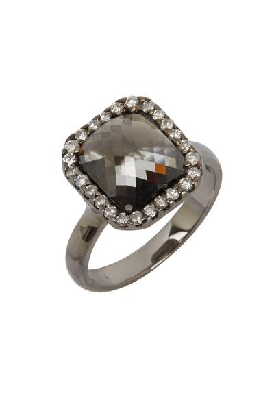 Kimberly McDonald - White Gold Black & White Diamond Ring