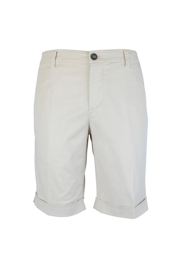 Brunello Cucinelli Stone Stretch Cotton Shorts