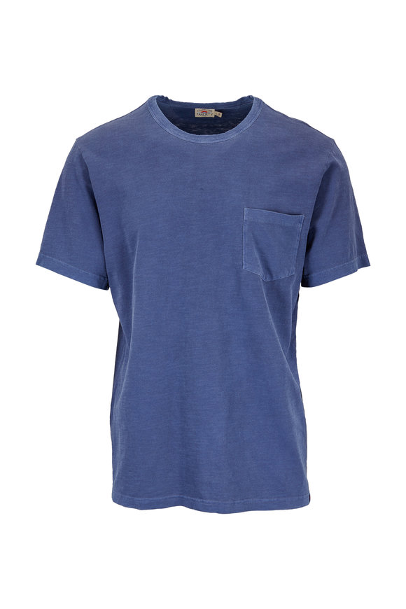 Faherty Brand Sunwashed Navy Cotton T-Shirt