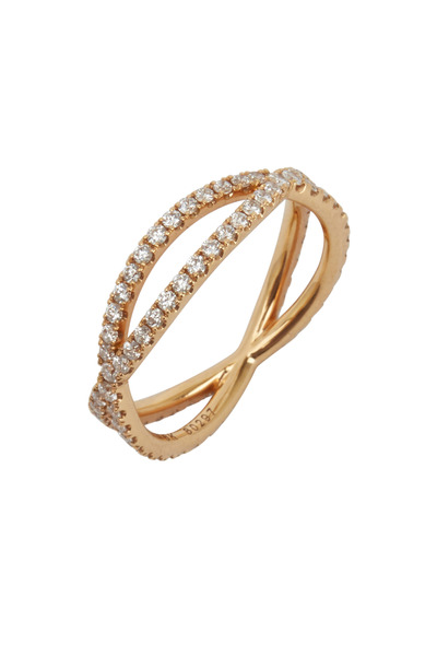 Kwiat - 18K Pink Gold Diamond Band