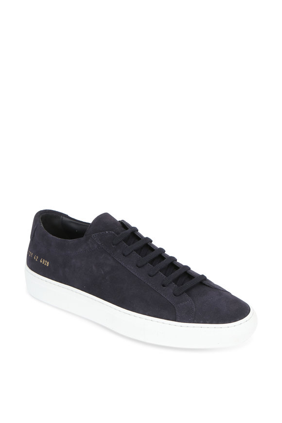 Common Projects Achilles Navy Blue Suede Low Sneaker