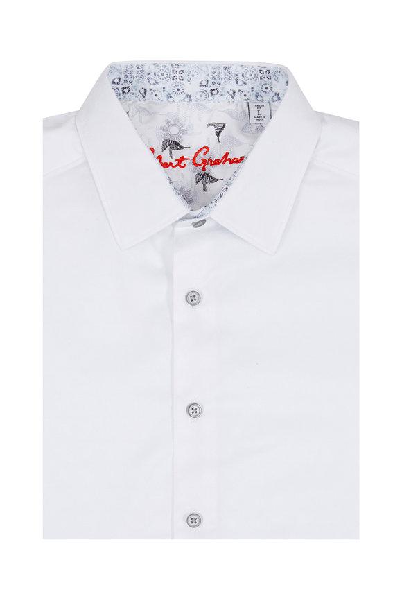 Robert Graham White Patterned Classic Fit Sport Shirt
