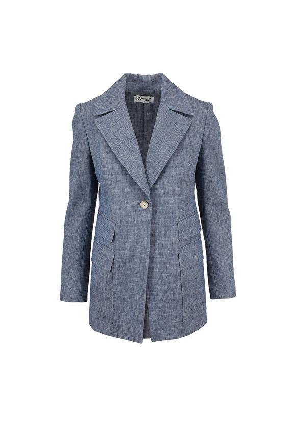 Partow Neeva Indigo Cotton & Linen Jacket