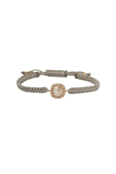 Kimberly McDonald - Rose Gold Diamond Macrame Bracelet