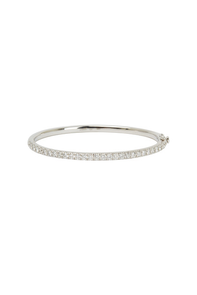 Kwiat - White Gold White Diamond Stack Bracelet