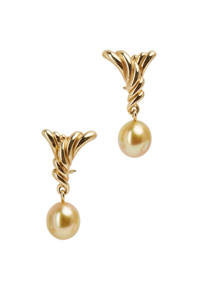 Assael - Angela Cummings Gold Pearl Angel Wing Earrings