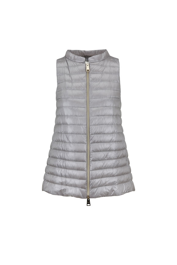 Herno Silver High-Low Vest